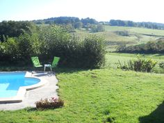 Vakantiehuis in de Lot - Dordogne  Frankrijk Uitzicht vanaf het achterterras