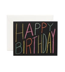 Rifle Paper Co. - Happy Birthday Crayon - Available As A Single Folded Card Or A Boxed Set Of 8