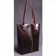 Leather Bags – Dark Brown Leather Handmade Women's Tote Bag – a unique product by Leather-Designs-Store on DaWanda