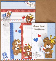 Bear's Cocoa letter set - From Jen