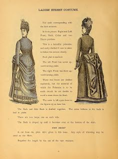Ladies' Street Costume 1888 pattern