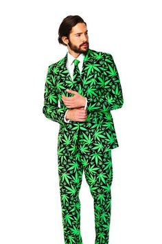 The Hemperor Weed Suit By Opposuits Bongs Cans Dress Suits Dresses Reefer