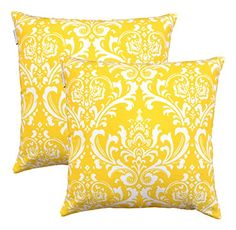 TreeWool, (Pack of 2) Damask Cotton Canvas Decorative Throw Pillow Cushion Covers by TreeWool Cushion Collections - 18 X 18 Inches (Yellow) TreeWool http://www.amazon.com/dp/B016TV5RUG/ref=cm_sw_r_pi_dp_WcoAwb1CQHN0H