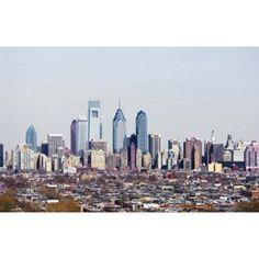 Buildings in a city Comcast Center Center City Philadelphia Philadelphia County Pennsylvania USA Canvas Art - Panoramic Images (38 x 24)