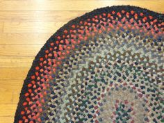 3' 4 x 5' 1 Braided Rug Vintage Rug American Hand Woven Area Rug Free Shipping   eBay