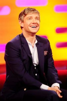 Martin Freeman & his adorable smile Okay... I need to stop for today...