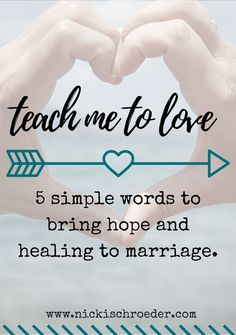 five simple words to bring hope and healing to marriage. Marriage Goals, Marriage Relationship, Marriage Advice, Love And Marriage, Fierce Marriage, Relationships, Relationship Therapy, Marriage Help, Christian Marriage