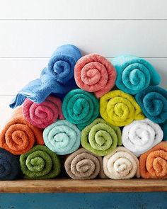 Easily update your bathroom with a splash of color. Our Signature Towels are thick and absorbent and coordinate with our other towels, bath mats and shower curtains.