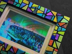 Unique Picture Frame mosaic art 5x7 Handcrafted by HamptonMosaics, $185.00. Sold. Available as Custom Order.