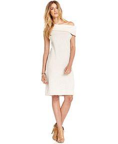 RACHEL Rachel Roy Dress, Boatneck Short-Sleeve Sweater