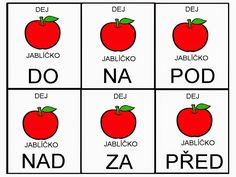 Pro Štípu: Pred, za, nad, pod Montessori Baby, Preschool Themes, France, Kindergarten, Teaching, Education, Logos, Speech Language Therapy, Literature