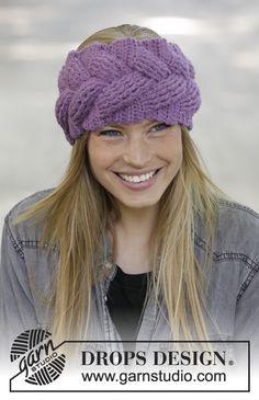 Women - Free knitting patterns and crochet patterns by DROPS Design. Crochet Beanie Hat, Crochet Mittens, Knitted Headband, Knitted Hats, Crochet Gratis, Diy Crochet, Drops Design, Knitting Patterns Free, Free Knitting