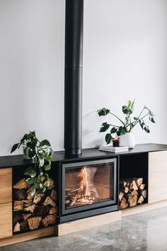 Wood Burner Fireplace, Home Fireplace, Fireplace Design, Fireplaces, Freestanding Fireplace, Log Burner, House Extensions, Home Reno, Living Room Interior