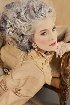 Marie Antoinette Purple Hair http://vintagetearoses.com/marie-antoinette-wedding-inspiration/ #wedding