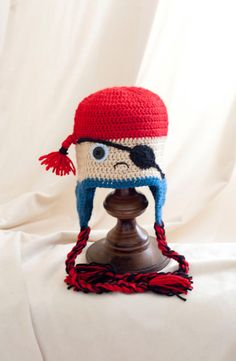 "Omggg..need to get yarn for this ASAP ...after all that hats I've been making for the hospital jay has been bugging me for one... His all time fav quote "" ahoyyy matey'sss!!!!"" Perfect!"