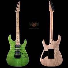 Tom Anderson Angel Flame Maple on Swamp Ash - Satin Gamma Green Beautiful Guitars, Awesome, Amazing, Heaven, Satin, Angel, Green, Vintage, Instruments