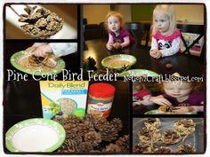 Toddler Time:  Pine Cone Bird Feeder.