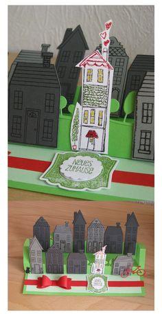 Karte zum Einzug, Stempelset Weiße Weihnacht Stampin' Up! mit den passenden Framelits