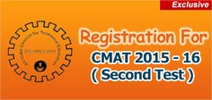 """""""CMAT 2015 Registration process for second test opened on November 6, 2014 and will continue till January 5, 2015. AICTE, like earlier CMAT exams, has provided the candidates two opportunities to appear in CMAT for admission session commencing 2015"""""""