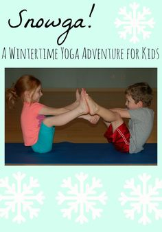 Winter themed kids yoga activities with related book