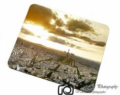 Paris sunset from Montparnasse photo,Mousepad photo,Paris mouse pad,personalized mousepad,WorkPad photo,rubber mousepad,Computer Gift