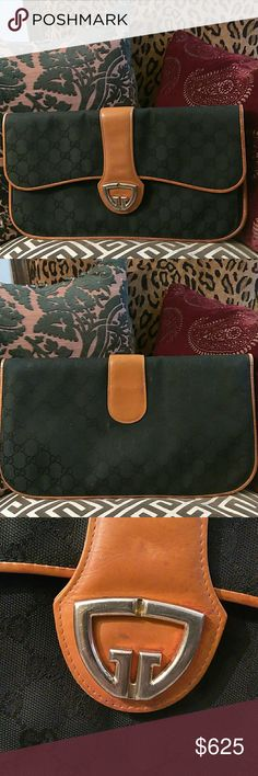 e745fd0e917 GUCCI CLUTCH This vintage piece is over 40 years old! In great used  condition!