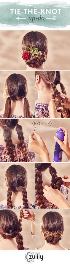 Wear this beautiful braided up-do to all your summer weddings! http://www.bdcost.com/hair+spray