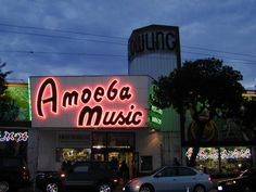 Amoeba Records! Best record store in SanFrancisco, maybe the world. In the Haight - via castro district.