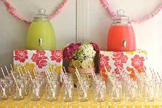 pretty lemonade setup