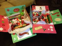 Christmas care packages that I made for Justin's buddies :)