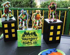 Vg's Birthday / Teennage Muntant Ninja Turtles - Photo Gallery at Catch My Party Turtle Birthday Parties, Ninja Turtle Birthday, Ninja Turtle Party, 4th Birthday, Birthday Ideas, Jesus Birthday, Ninja Turtles, Ninja Turtle Invitations, Kids Party Themes