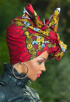 wrap attaché foulards gélé ~Latest African Fashion, African Prints, African fashion styles, African clothing, Nigerian style, Ghanaian fashion, African women dresses, African Bags, African shoes, Kitenge, Gele, Nigerian fashion, Ankara, Aso okè, Kenté, brocade. ~DK