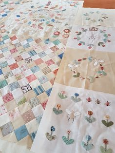 Waar ik met zoveel plezier aan werk.. Deze prachtige applicatie-quilt van Susan Smith (klik) Bovendien heeft deze quilt dezelfde naam ...