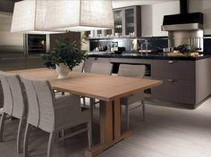Oak kitchen with island NANTÌA ASH GRAY Nantìa Collection by TONCELLI CUCINE