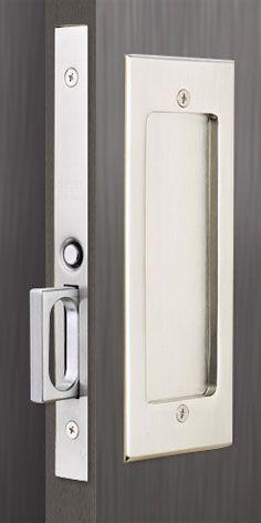Emtek Products Inc 2114 Passage Emtek Modern Rectangular Solid Brass Mortise Pocket Door Passage Set The Hardware Hut In 2020 Pocket Door Hardware Pocket Door Handles Pocket Door Lock