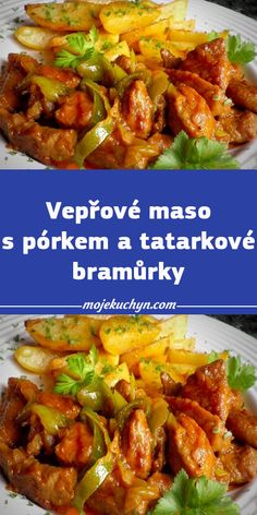 Czech Recipes, Ethnic Recipes, Remoulade, Curry, Food And Drink, Cooking Recipes, Beef, Chicken, Fit