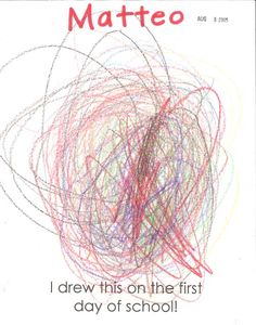 """First Days of Pre-K-paper that says, """"I drew this on the first day of school""""....for portfolio"""