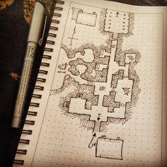 Dungeon map practice by billiambabble on deviantART