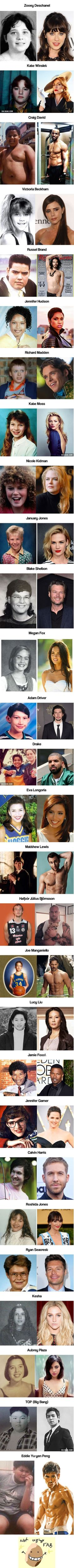 Celebs who were once ugly ducklings Best Funny Pictures, Funny Images, Barba Sexy, Funny Jokes, Hilarious, Ugly To Pretty, Ugly Duckling, Actor Photo, Mind Blown