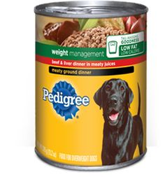 Pedigree weight management canned food is being recalled because it could contain plastic pieces.