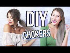 DIY Tumblr Chokers | Fun Summer Project Idea!! - YouTube