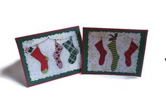 Stocking Christmas Cards Set of 6 Handmade by SimpleHomeAccents, $12.00