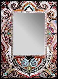 Tiled Mirror 'Moulin Rouge' by Carl Bryant and Sandra Bryant
