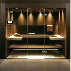 38 Easy And Cheap Diy Sauna Design You Can Try At Home. he prospect of building a sauna in the home may initially sound daunting, but in fact it is a relatively simple project . Spa Design, Design Sauna, House Design, Design Ideas, Home Steam Room, Sauna Steam Room, Sauna Room, Sauna Diy, Modern Saunas
