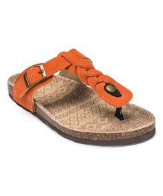 Orange Marie Terra Turf Suede Sandal by MUK LUKS #zulily #zulilyfinds