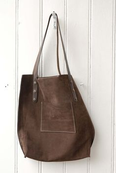 leather tote bag handmade by LABOUR OF ART