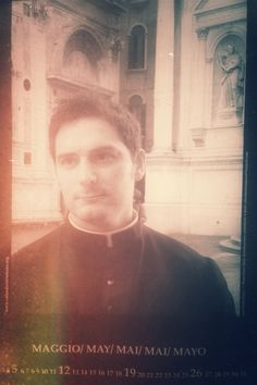 Real Calendar of hunky Priests - the future Pope is in here somewhere...  May