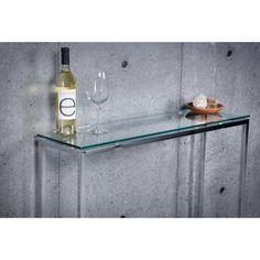 Euro Style Sandor Console Table - Clear