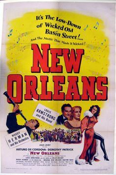 New Orleans (1947) is a musical featuring music by Louis Armstrong and his band. Filmed in New Orleans. From The Louisiana State Museum archives.