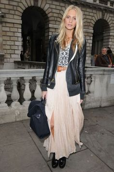 Poppy Delevigne at London Fashion Week A/W 2012